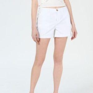 BRAND NEW white chino style cotton shorts size 2